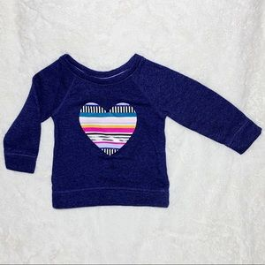Cute navy pullover sweater with heart